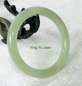 Classic Round Chinese Jade Bangle Bracelet 60mm (NJ888-60)