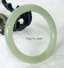 Classic Round Chinese Jade Bangle Bracelet 65mm (NJ888-65)