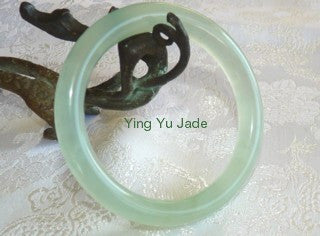 Classic Round Traditional Chinese Jade Bangle Bracelets 53mm (NJ888-53)