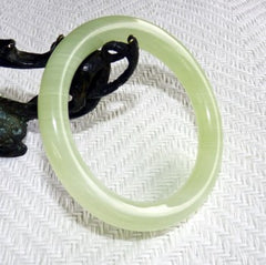 Classic Round Chinese Jade Bangle Bracelet 61mm (NJR-SP-61)