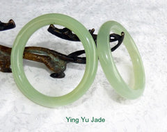 Classic Round Chinese Jade Bangle Bracelet 58mm (NJ888-58)