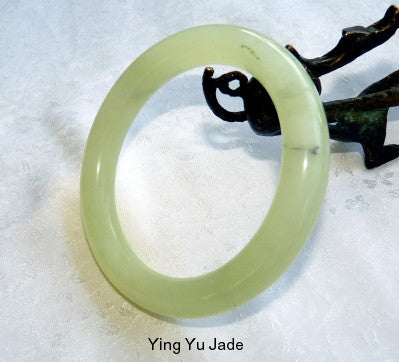 "Luminous"" Classic Round Chinese Jade Bangle Bracelet 68mm (NJRJ102)"