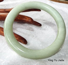 Classic Round Chinese Jade Bangle 67mm (NJRN68)