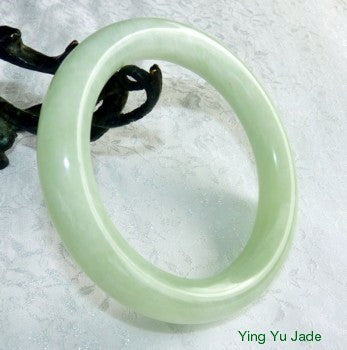 """Glowing"" Classic Round Traditional Chinese Jade Bangle Bracelet 62mm (NJRJ87)"