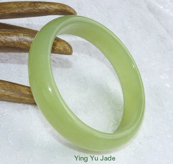 """Spleen Meridian"" Large/Men's Chinese Jade Bangle 70mm (NJXIU-70)"