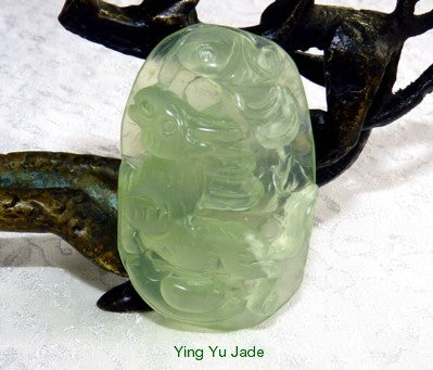 "Best Quality Chinese Jade ""Magnificent Horse"" 3-D Carved Pendant (P1605)"