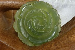 """Mei"" Beautiful Flower Chinese Jade Pendant (P517)"