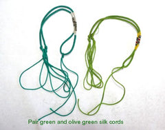 """Dragon Whisker"" Silk Knotted Adjustable Cord for Pendant-Choose Color, Style"
