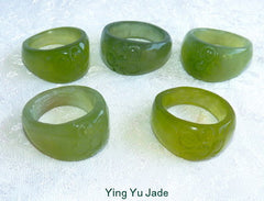"Classic Chinese Jade ""Flower"" Ring Size 10"