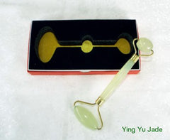 Premium Deluxe  Ying Yu Jade  Double Roller for Face and Body