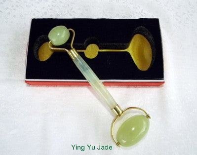 Sale-Ying Yu Jade Practitioner's Style Jade Roller (Roller-P-17)