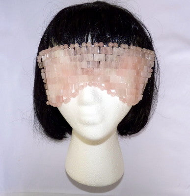 Sale-Rose Quartz Face and Eye Mask for Health and Beauty