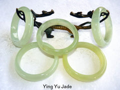 Sale-Special Purchase-Glowing Translucent Traditional Classic Chinese Jade Bangle Bracelet 60 mm (YYJ-SPF-60)