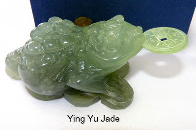 Best Quality Chinese Jade Auspicious Three Legged Money Toad with Coin (Toad-18)