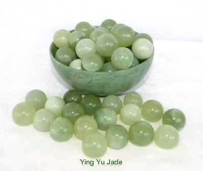 "Wholesale Sets of 2 Jade Ben Wa Balls ""Yoni""  for Women Kegel Exercise  -Set of 10 Pairs"