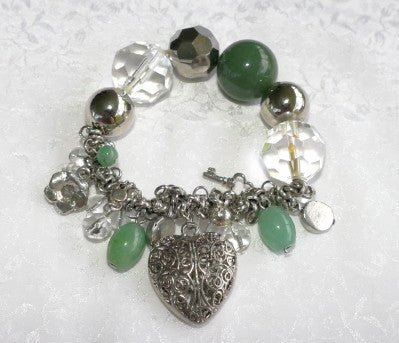 Ying Yu's Jewelry Box Jade Bead, Silver and Gemstone Bracelet (YYBox-22)