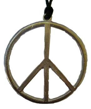 "2 7/8"" Peace Sign amulet"