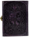 Owl leather blank book w/ latch