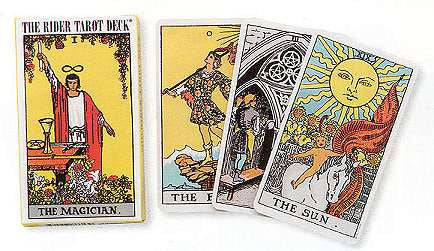 Rider-Waite Mini tarot deck by Pamela Colman Smith