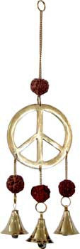 Peace with Rudraksha wind chime