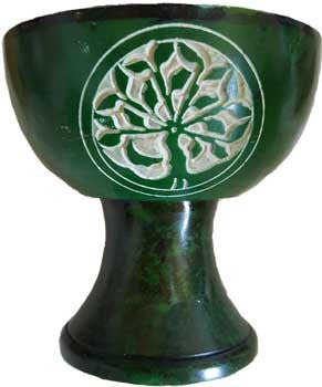 "4"" Green Tree of Life burner"