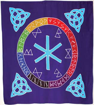 "Rune Mother altar cloth or scarve 36"" x 36"""