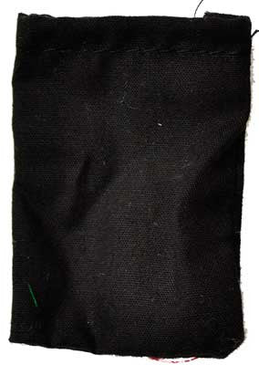 "Black Cotton bag 1 1/2"" x 2 1/4"""