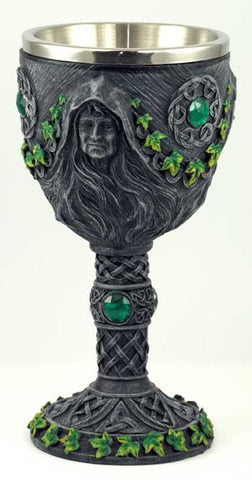 Maiden, Mother & Crone chalice 7 1/2""