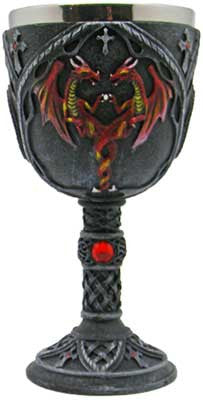 Red Dragon chalice 7 1/4""