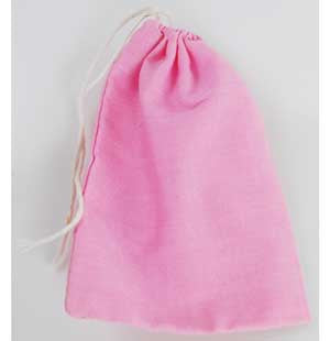 Pink Cotton Bag