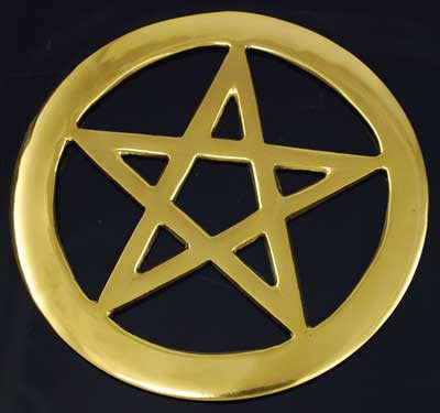 Brass Cut-Out Pentagram 4""