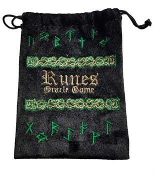"4""x 5/12"" Rune Black Velveteen Bag"