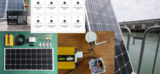CoLab's internet-connected solar panel