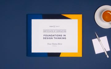 Foundations in Design Thinking Certificate