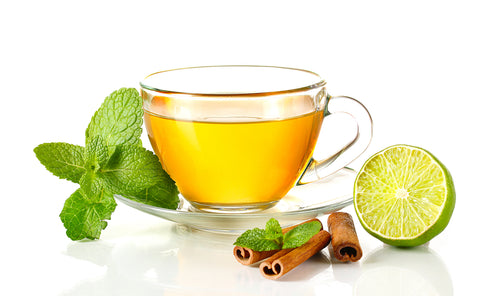 Tea Blendz picture of green tea with lime and cinnamon
