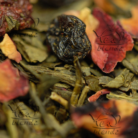 Tea Blendz, Berry Good Feeling, flavoured green tea blend
