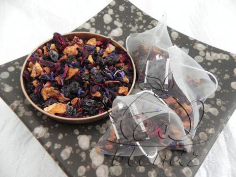 Tea Blendz, Blueberry Buffet, fruit tisane pyramid bag tea blend