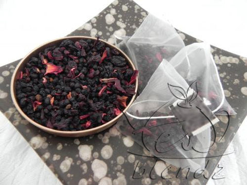 Tea Blendz, Bold Berry, fruit tisane pyramid bag tea blend