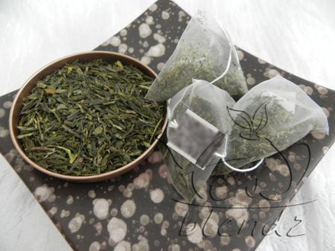 Tea Blendz, Japan Sencha, green tea pyramid bag, tea blend