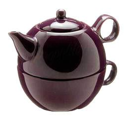 Tea Blendz - Tea for One - Tea Pot & Cup Combo - Plum