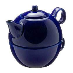 Tea Blendz - Tea for One - Tea Pot & Cup Combo - Royal Blue