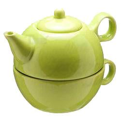 Tea Blendz - Tea for One - Tea Pot & Cup Combo - Tea Green