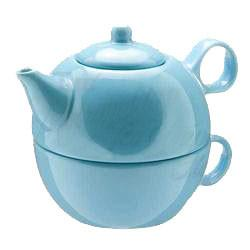 Tea Blendz - Tea for One - Tea Pot & Cup Combo - Vivian Teal