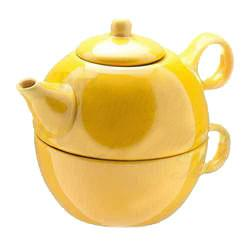 Tea Blendz - Tea for One - Tea Pot & Cup Combo  - Yellow