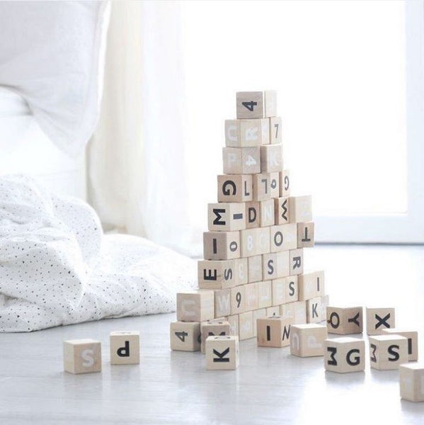Ooh Noo Alphabet Wooden Building Blocks