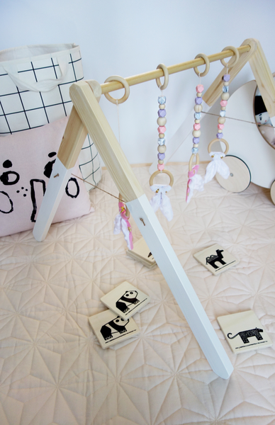 Wooden Baby Gym Lavender Pink