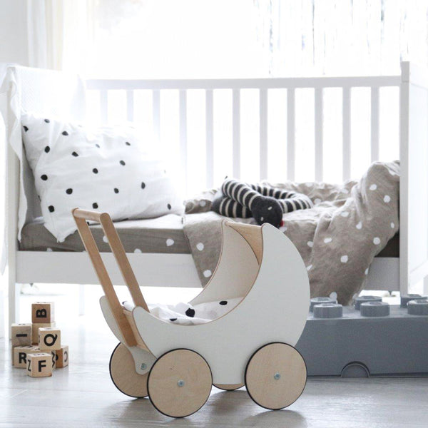 ooh noo wooden dolls pram