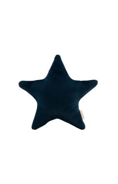 Nobodinoz Aristote Star Velvet Cushion - Night Blue