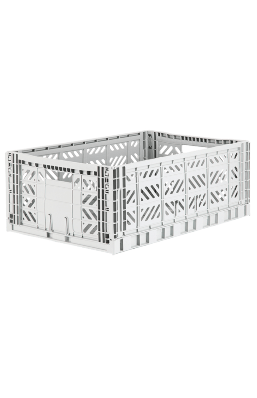 AyKasa Maxi Folding Crate - Light Grey
