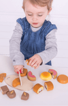 BigJigs Wooden Play Food - Cutting Bread & Pastries Crate
